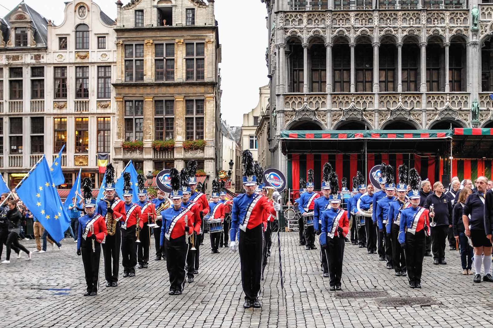 Grand Place band Brussels Belgium