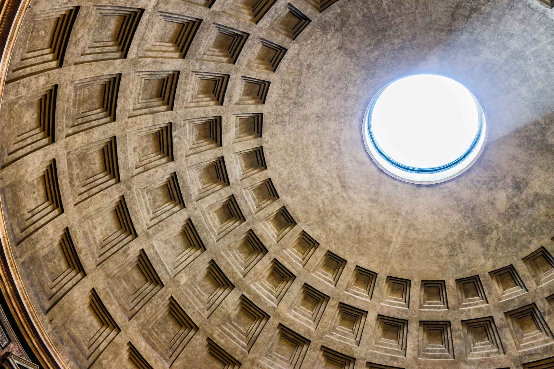 Pantheon domed ceiling Rome Italy