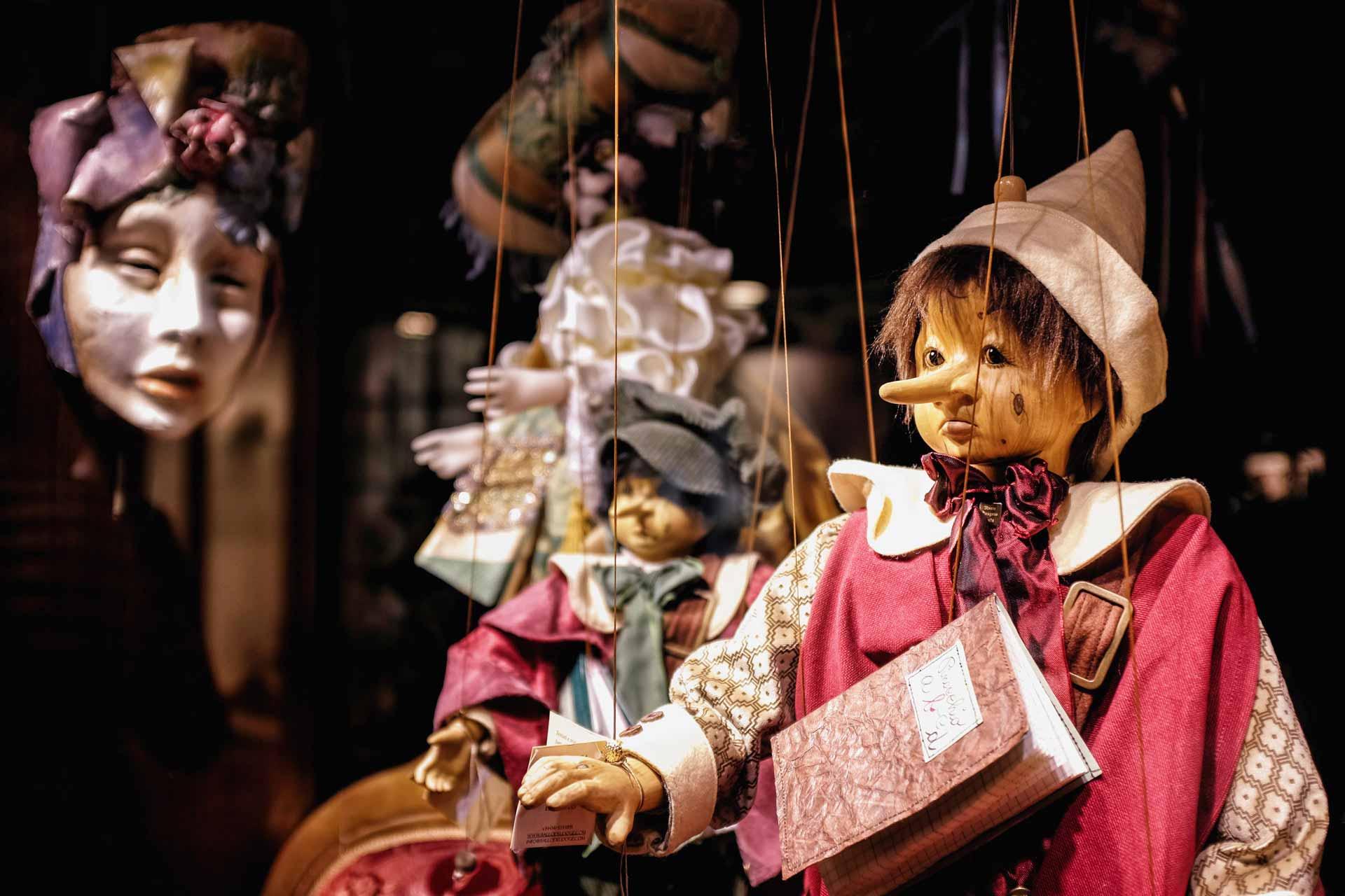 Pinocchio marionette Venice Italy