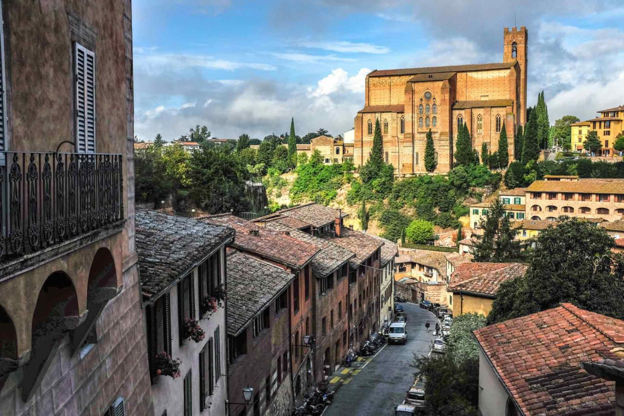 Tuscan hillside Siena Italy