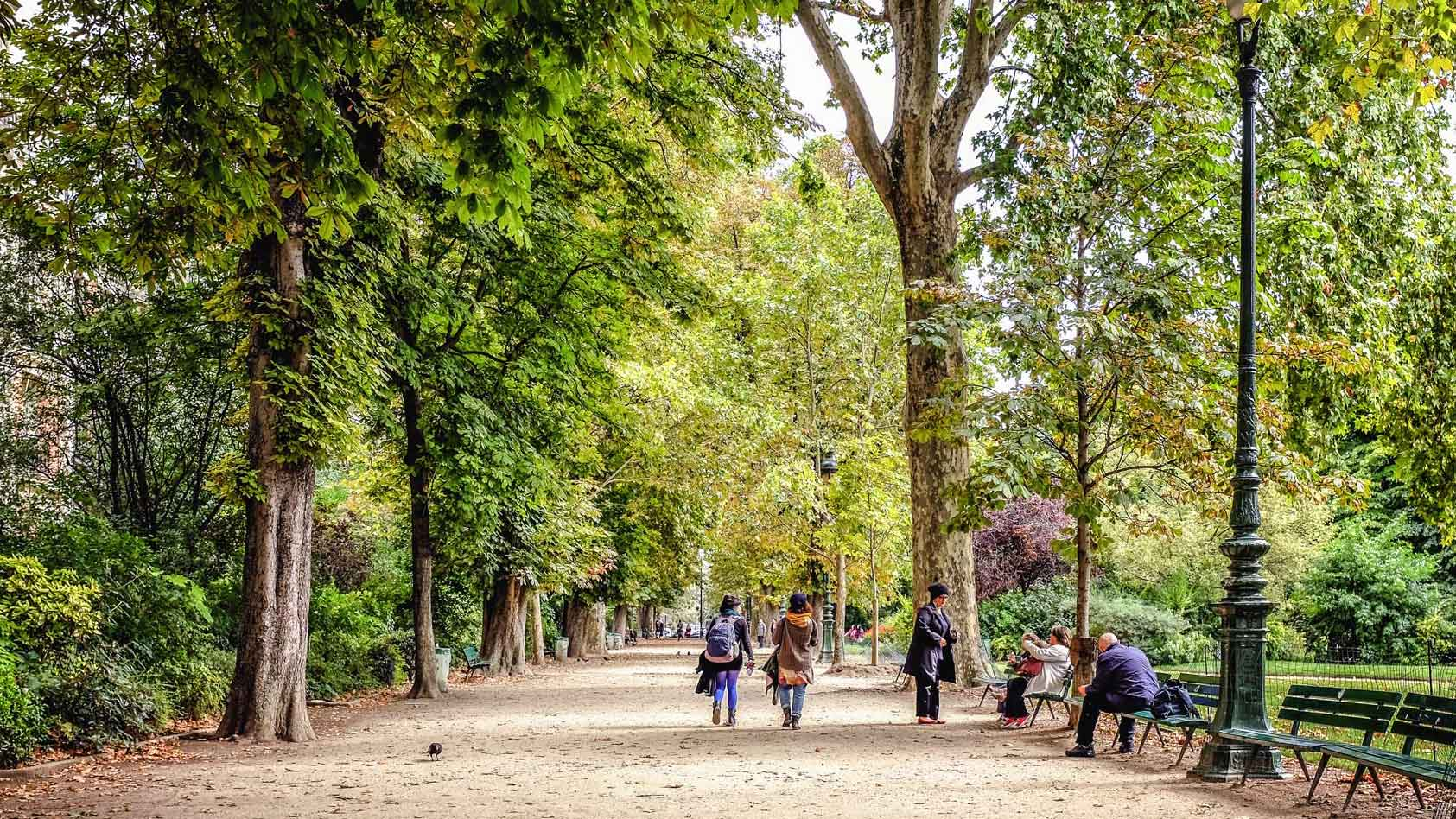 Champ de Mars Park Paris France
