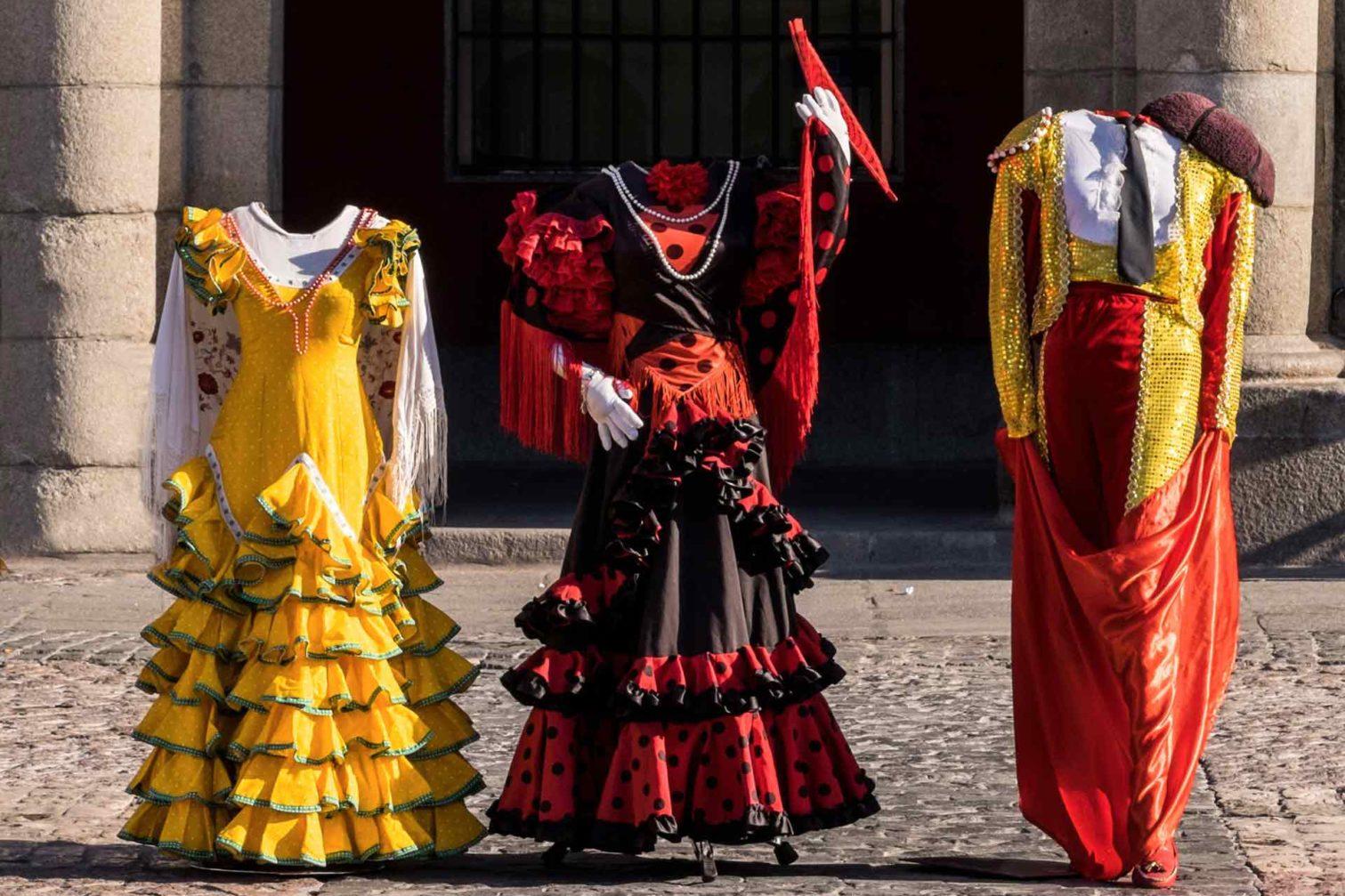 Plaza Mayor costumes Madrid Spain