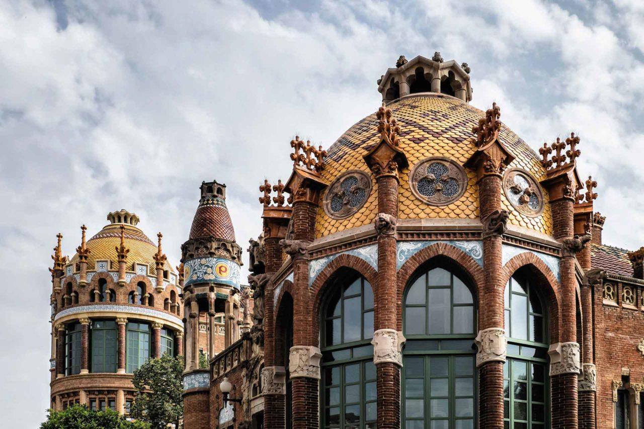 Sant Pau rooftops Barcelona Spain