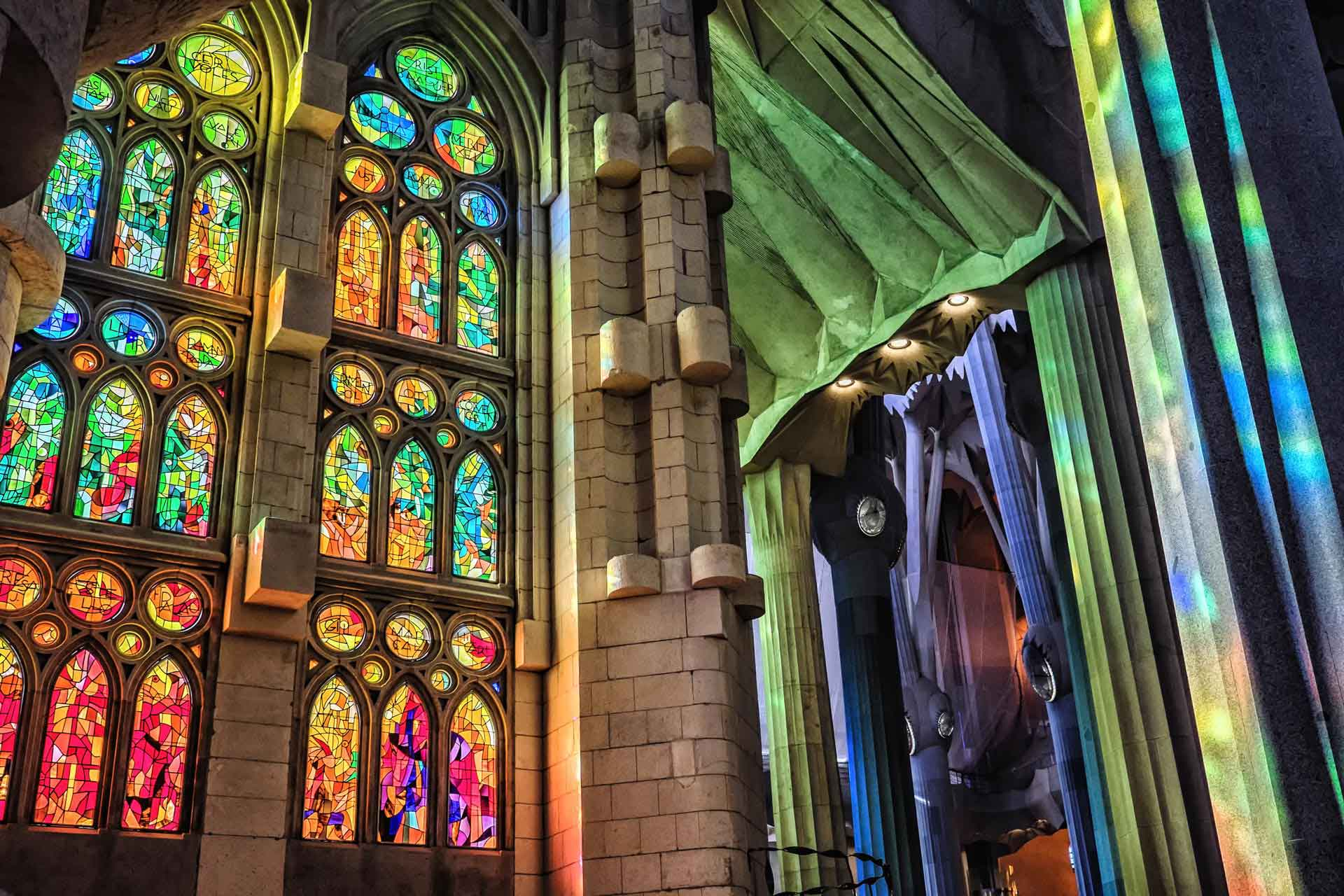 Sagrada Familia stained glass windows Barcelona Spain
